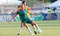 Amanda Cinalli #15 holds off Yael Averbach..Saint Louis Athletica defeated Sky Blue F.C 1-0, at The Anheuser-Busch Soccer Park, Fenton, Missouri.