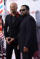 Common + Ice Cube @ the premiere of 'Barber Shop The Next Cut' held @ the Chinese theatre.<br /> April 6, 2016