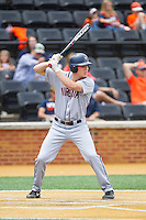 Nick Howard (33) of the Virginia Cavaliers at bat against the Wake Forest Demon Deacons at Wake Forest Baseball Park on May 17, 2014 in Winston-Salem, North Carolina.  The Demon Deacons defeated the Cavaliers 4-3.  (Brian Westerholt/Four Seam Images)