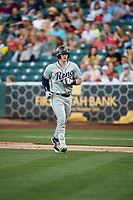 Zach Borenstein (19) of the Reno Aces during the game against the Salt Lake Bees in Pacific Coast League action at Smith's Ballpark on June 15, 2017 in Salt Lake City, Utah. The Aces defeated the Bees 13-5. (Stephen Smith/Four Seam Images)
