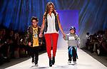 Fashionable mom show at Fashion Week