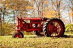 Old McCormick Deering Farmall tractor in field. 1920's F-20 Series