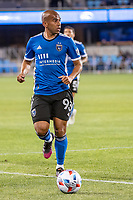 SAN JOSE, CA - MAY 01: Judson #93 of the San Jose Earthquakes looks up to pass the during a game between San Jose Earthquakes and D.C. United at PayPal Park on May 01, 2021 in San Jose, California.