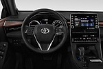 Car pictures of steering wheel view of a 2019 Toyota Avalon XLE Hybrid 4 Door Sedan