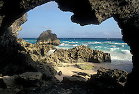Bermuda, beach, Stonehole Beach, Warwick Parish, Rocky coastline of Stonehole Bay in Warwick Parish in Bermuda.