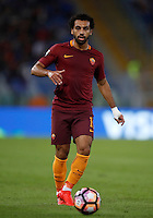 Calcio, Serie A: Roma, stadio Olimpico, 21 settembre 2016.<br /> Roma's Mohamed Salah in action during the Serie A soccer match between Roma and Crotone at Rome's Olympic stadium, 21 September 2016. Roma won 4-0.<br /> UPDATE IMAGES PRESS/Isabella Bonotto