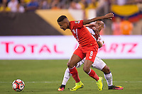 Action photo during the match Peru vs Colombia, Corresponding to the quarterfinals of the America Cup 2016 Centenary at Metlife Stadium.<br /> <br /> Foto de accion durante el partido Peru vs Colombia, Correspondiente a los Cuartos de Final de la Copa America Centenario 2016 en el Estadio Metlife, en la foto: Andy Polo<br /> <br /> <br /> 17/06/2016/MEXSPORT/Osvaldo Aguilar.