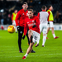 Sheffield United's forward Billy Sharp (10) during the Sky Bet Championship match between Hull City and Sheff United at the KC Stadium, Kingston upon Hull, England on 23 February 2018. Photo by Stephen Buckley / PRiME Media Images.