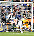 02/05/2009  Copyright  Pic : James Stewart.sct_jspa10_falkirk_v_motherwell.THOMAS SCOBBIE HEADS HOME THE SECOND.James Stewart Photography 19 Carronlea Drive, Falkirk. FK2 8DN      Vat Reg No. 607 6932 25.Telephone      : +44 (0)1324 570291 .Mobile              : +44 (0)7721 416997.E-mail  :  jim@jspa.co.uk.If you require further information then contact Jim Stewart on any of the numbers above.........