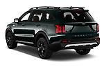 Car pictures of rear three quarter view of 2021 KIA Sorento SX 5 Door SUV Angular Rear