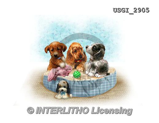 GIORDANO, CUTE ANIMALS, LUSTIGE TIERE, ANIMALITOS DIVERTIDOS, paintings+++++,USGI2905,#AC# ,dogs