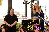 LOS ANGELES - JAN 9:  Burt Ward, Nancy O'Dell at the Burt Ward Star Ceremony on the Hollywood Walk of Fame on JANUARY 9, 2020 in Los Angeles, CA