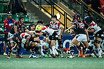 Yuki Ito of Japan (c) competes against Hong Kong during the Womens Rugby World Cup 2017 Qualifier match between Hong Kong and Japan on December 17, 2016 in Hong Kong, Hong Kong. Photo by Marcio Rodrigo Machado / Power Sport Images
