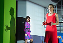 Woman On The Verge of A Nervous Breakdown The Musical. Based on the movie by Pedro Almodovar. Music and Lyrics by David Yazbek,Book by Jeffrey Lane, directed by Bartlett Sher. With Rebecca McKinnis as Christina, Tamsin Greig as Pepa Marco. Opens at The Playhouse Theatre on 12/1/15. CREDIT Geraint Lewis