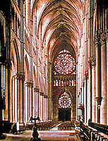 Rheims Cathedral, a Roman Catholic cathedral in Reims, France. It is the traditional location for the coronation of the kings of France.