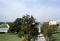 Washington D.C. : Pennsylvania Ave. from Capitol. Panoramic view. Photo '85.