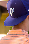 Close-up of a student's ballcap at University of Portland.