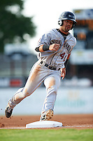 Mahoning Valley Scrappers outfielder Ka'ai Tom (40) running the bases during a game against the Batavia Muckdogs on July 3, 2015 at Dwyer Stadium in Batavia, New York.  Batavia defeated Mahoning Valley 7-4.  (Mike Janes/Four Seam Images)
