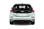 Straight rear view of a 2019 Nissan Leaf SV 5 Door Hatchback stock images
