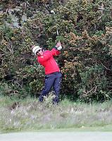 Sunday 31st May 2015; Thongchai Jaidee plays from the heavy rough on the 18th<br /> <br /> Dubai Duty Free Irish Open Golf Championship 2015, Round 4 County Down Golf Club, Co. Down. Picture credit: John Dickson / DICKSONDIGITAL