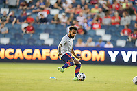 KANSAS CITY, KS - JULY 15: Eryk Williamson #19 of the United States warming up before a game between Martinique and USMNT at Children's Mercy Park on July 15, 2021 in Kansas City, Kansas.