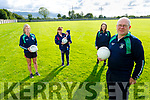 Members of the Mna Na Gaeil Mothers and Others LGFA team looking forward to getting back training at the club on Friday evening. <br /> Front right: Eddie Sheehy (Coach). <br /> Back l to r: Caroline Dillane, Sharon Roche, Donagh Fitzgerald and Sarah Jane O'Brien.