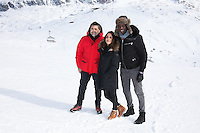"LE REALISATEUR LUDOVIC BERNARD, ALICE BELAIDI ET AHMED SYLLA AU PHOTOCALL DU FILM ""L'ASCENSION"" - 20EME FESTIVAL INTERNATIONAL DU FILM DE COMEDIE DE L'ALPE D'HUEZ 2017"