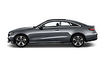 Car driver side profile view of a 2018 Mercedes Benz E Class Executive 2 Door Coupe