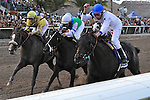 Take Charge Indy (no. 3), ridden by Calvin Borel and trained by Patrick Byrne, wins the  63rd running of the grade 1 Florida Derby for three year olds on March 31, 2012 at Gulfstream Park in Hallandale Beach, Florida.  (Bob Mayberger/Eclipse Sportswire)