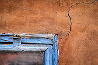 Santa Fe Crack - New Mexico - Adobe - Old Window
