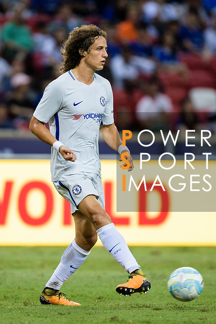 Chelsea Defender David Luiz in action during the International Champions Cup 2017 match between FC Internazionale and Chelsea FC on July 29, 2017 in Singapore. Photo by Weixiang Lim / Power Sport Images