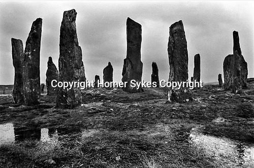 Callanish Standing Stones, Callanish Isle of Lewis and Harris 1974 1970s UK