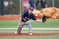 Paul Winland Jr (26) during the WWBA World Championship at the Roger Dean Complex on October 11, 2019 in Jupiter, Florida.  Paul Winland Jr attends Beaufort High School in Beaufort, SC and is committed to Missouri.  (Mike Janes/Four Seam Images)
