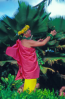 EDITORIAL ONLY. Robert Cazimero dances hula at Lanikuhonua, Oahu