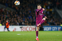 Bernardo Silva of Manchester City during the Fly Emirates FA Cup Fourth Round match between Cardiff City and Manchester City at the Cardiff City Stadium, Wales, UK. Sunday 28 January 2018