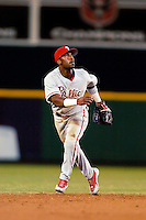 3 September 2005: Jimmy Rollins, shortstop with the Philadelphia Phillies, during a game against the Washington Nationals. The Nationals defeated the Phillies 5-4 at RFK Stadium in Washington, DC. <br /><br />Mandatory Photo Credit: Ed Wolfstein.