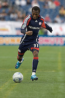 New England Revolution midfielder Sainey Nyassi (31). The New England Revolution out scored the Chicago Fire, 2-1, in Game 1 of the Eastern Conference Semifinal Series at Gillette Stadium on November 1, 2009.