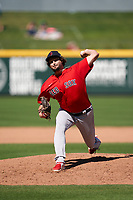 Boston Red Sox pitcher Josh Taylor (38) during a Major League Spring Training game against the Atlanta Braves on March 7, 2021 at CoolToday Park in North Port, Florida.  (Mike Janes/Four Seam Images)