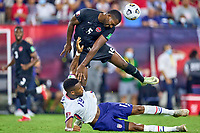 5th September 2021; Nashville, TN, USA;  United States forward Jordan Pefok clashes with Canada defender Doneil Henry (15) during a CONCACAF World Cup qualifying match between the United States and Canada on September 5, 2021 at Nissan Stadium in Nashville, TN.