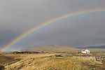 A rainbow over a ranch near El Calafate in the Patagonia region of Argentina.