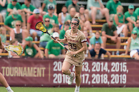 NEWTON, MA - MAY 22: Jenn Medjid #35 of Boston College brings the ball forward during NCAA Division I Women's Lacrosse Tournament quarterfinal round game between Notre Dame and Boston College at Newton Campus Lacrosse Field on May 22, 2021 in Newton, Massachusetts.