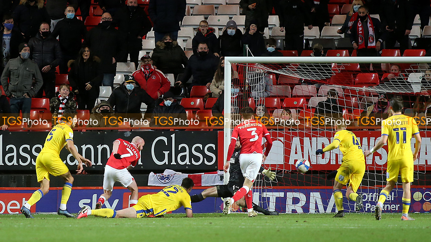 Jonny Williams sets up Ben Purrington to score Charlton's fifth goal during Charlton Athletic vs AFC Wimbledon, Sky Bet EFL League 1 Football at The Valley on 12th December 2020