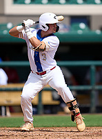 Cypress Bay Lightning Jesus Vanegas (3) during the 42nd Annual FACA All-Star Baseball Classic on June 6, 2021 at Joker Marchant Stadium in Lakeland, Florida.  (Mike Janes/Four Seam Images)