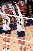 SAN ANTONIO, TX - NOVEMBER 7, 2008: The Nicholls State University Colonels vs. The University of Texas at San Antonio Roadrunners Volleyball at the UTSA Convocation Center. (Photo by Jeff Huehn)