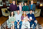 The christening of Aeda Counihan from Castlegegory in the Ballygarry House Hotel on Saturday.<br /> Seated l to r: Eileen Counihan (GM), Catriona, baby Aeda and Kevin Counihan and Shane O'Donoghue (GF).<br /> Back l to r: Denny and Kathleen O'Donoghue, Breda and John Counihan.