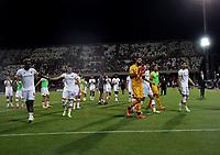 29th August 2021;  Estadio Arechi, Salerno, Campania, Italy;  Serie A Football league, Salernitana versus Roma; the Roma team applauds their fans