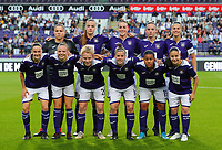 20190912 - Anderlecht , BELGIUM : Top left to right: Anderlecht's Justien Odeurs, Tine De Caigny, Britt Vanhamel, Sheryl Merchiers, Laura De Neve, bottom right to left Stefania Vatafu, Mariam Abdulai Toloba, Laura Deloose, Charlotte Tisson, Sarah Wijnants and Elke Van Gorp are posing for the team photo before the female soccer game between the Belgian Royal Sporting Club Anderlecht Dames  and BIIK Kazygurt from Shymkent in Kazachstan, this is the first leg in the round of 32 of the UEFA Women's Champions League season 2019-20120, Thursday 12 th September 2019 at the Lotto Park in Anderlecht , Belgium. PHOTO SPORTPIX.BE | SEVIL OKTEM
