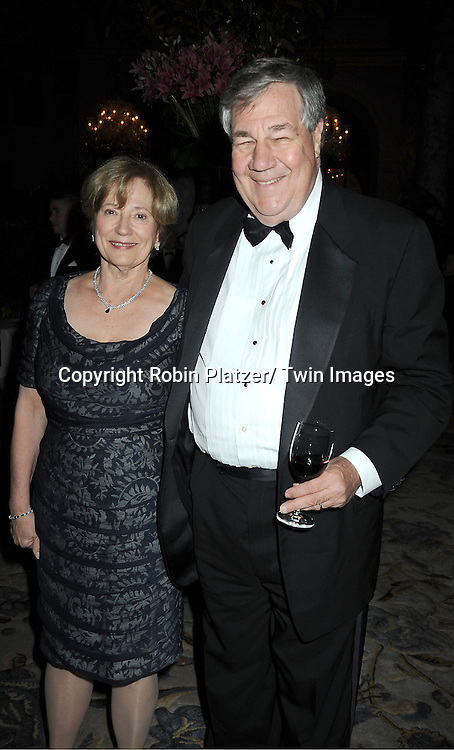 Kathy and Dennis Swanson  attend The 2011 Living Landmarks Celebration presented by The New York Landmarks Conservancy on .November 2, 2011 at The Plaza Hotel in New York City.  .The honorees are Lewis B Cullman, Louise Kerz Hirschfeld, Angelia Lansbury, Danny Meyer and Regis Philbin.