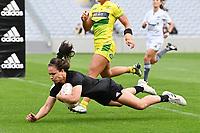 22nd May 2021; Eden Park, Auckland New Zealand;  Ruby Tui scores a try. Black Ferns Womens Sevens versus Australia Women, Trans-Tasman Sevens at Eden Park, Auckland.