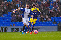 Saturday 25 January 2014<br /> Pictured: ( L-R )   Pablo Hernandez<br /> Re: Birmingham City v Swansea City FA Cup fourth round match at St. Andrew's Birimingham